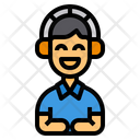 Headphone Listening Learning Icon