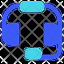 Headphone Customer Care Help Center Icon