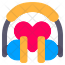 Headphone Love Heart Icon