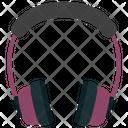 Headphone Grey And Purple Icon