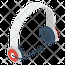 Headphone With Mic Icon