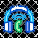 Headphones System Voip Icon