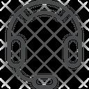 Earphone Headset With Microphone Headphone Icon