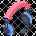 Headphones Headset Online Calling Icon