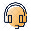 Headset Customer Service Support Icon