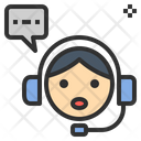 Headset Assistant Operator Icon