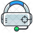 Headset Goggles Glasses Icon