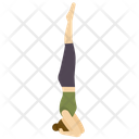 Headstand yoga pose Icon