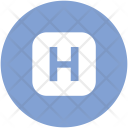 Health Sign Letter Icon