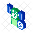 Health Dumbbell Gym Icon