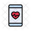 Mobile Health Life Icon