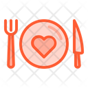 Health at the table Icon
