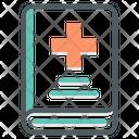 Health Book School Education Icon