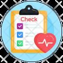 Medical Report Medical Checklist Health Checklist Icon