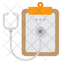 Health Checkup Clipboard Stethoscope Icon