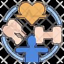 Health Conscious Goodhealth Exercise Icon
