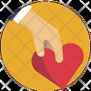 Hand Help Heart Icon