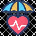 Health Insurance Heart Care Heart Insurance Icon