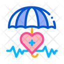 Heart Cardio Umbrella Icon
