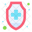 Health Insurance Health And Medical Shield Icon