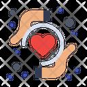 Health Insurance Heart Health Heart Protection Icon