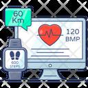 Ecg Monitor Electrocardiogram Heartbeat Monitor Icon
