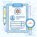 Health Record Patient Report Medical Record Icon