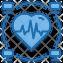 Healthcare Big Data Blockchain Icon