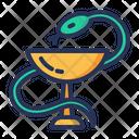 Healthcare Caduceus Snake Icon