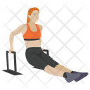 Jumping Hurdles Fitness Game Workout Icon