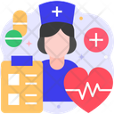 Healthcare System Doctor Medical Report Icon