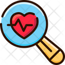 Healthcare System Analysis Heart Checkup Artificial Intelligence Icon