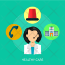 Healthy Care Nurse Icon