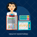 Healthy Monitoring Medicine Icon