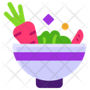 Healthy Diet Vegetable Bowl Farming Element Icon