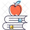 Healthy Education Healthy Learning Fruitful Education Icon
