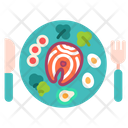 Salmon Food Eating Icon