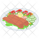 Sea Food Healthy Food Hotdog Platter Icon