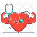 Strong Heart Healthy Heart Heart Fitness Icon