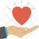 Hand Heart Health Icon