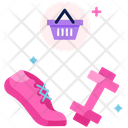 Healthy Items Shopping Exercise Gym Icon