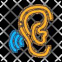 Hears Sound Hearing Icon