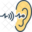 Hearing Sense Ear Icon