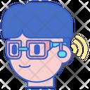 Hearing Aid Glasses Hearing Machine Hearing Aid Icon