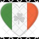 Heart Flag Irish Icon