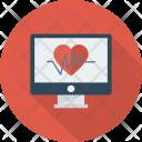 Heart Medicine Monitor Icon