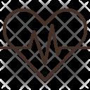 Heart Signal Ekg Icon