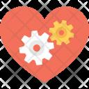 Heart Cog Love Icon