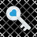 Heart Key Romance Icon