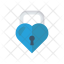 Heart Lock Secure Icon